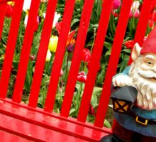 Rainbow Park Gnome Sticker