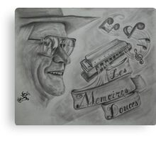 Portrait of a Cajun Storyteller  Canvas Print