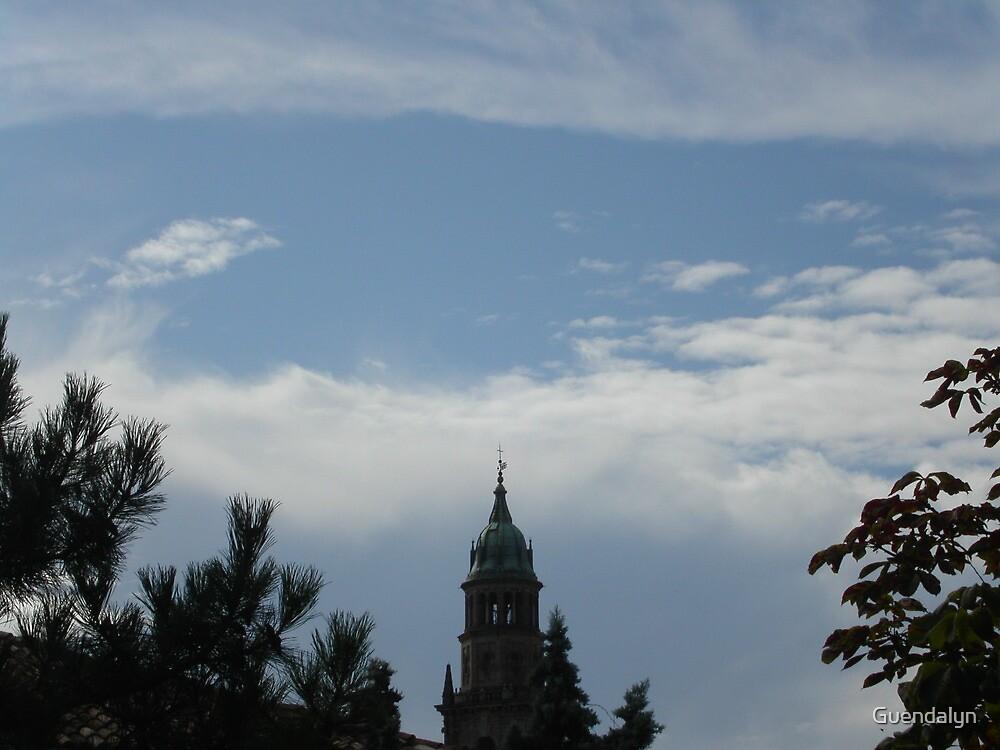 le nuvole...e il campanile della Cattedrale di Parma-Italy by Guendalyn