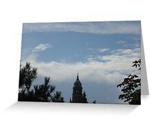 le nuvole...e il campanile della Cattedrale di Parma-Italy Greeting Card