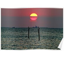 End of the Day on the Gulf Poster