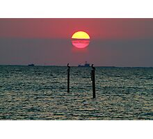 End of the Day on the Gulf Photographic Print