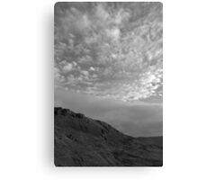 Rock and clouds - Peak District - United Kingdom Canvas Print