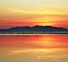 Sunset Over Arran by David Alexander Elder