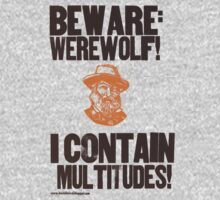 Beware Werewolf! Walt Whitman Kids Clothes