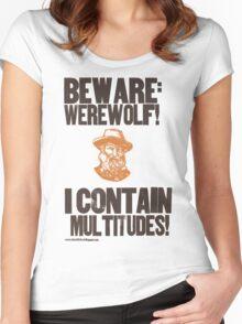 Beware Werewolf! Walt Whitman Women's Fitted Scoop T-Shirt