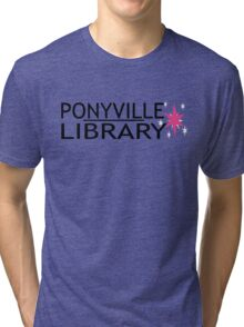 Ponyville Library Tee Tri-blend T-Shirt