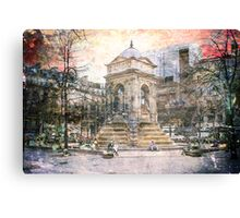 Parisian Mosaic - Piece 27 - Fontaine des Innocents Canvas Print