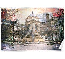 Parisian Mosaic - Piece 27 - Fontaine des Innocents Poster