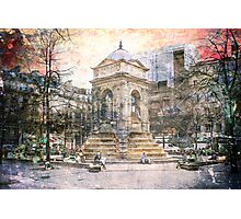 Parisian Mosaic - Piece 27 - Fontaine des Innocents Photographic Print