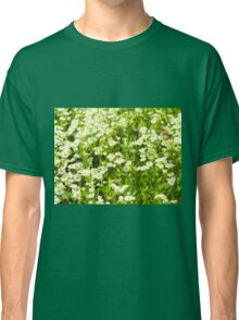 Selective focus of green field Classic T-Shirt