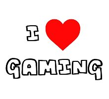 I Heart Gaming Photographic Print