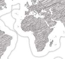 Sketchy Map of the World Sticker