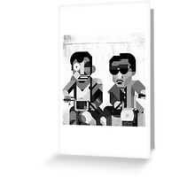 Black boys on Moped Greeting Card