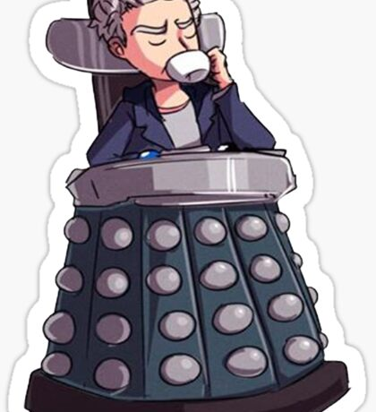 "Doctor Who - Capaldi On Davros ""Chair"" Sticker"