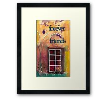 Through The Windowpanes of Friendship Framed Print