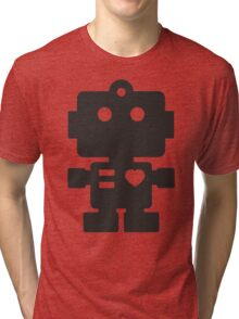 Robot - Simple Black Tri-blend T-Shirt