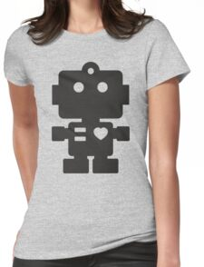 Robot - Simple Black Womens Fitted T-Shirt