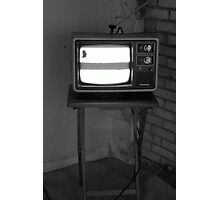 TV Set Photographic Print