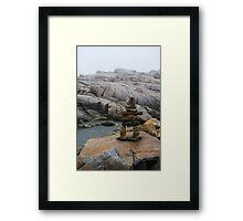 Rock Man Framed Print