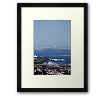 View from Swiss Air flight Memorial Framed Print