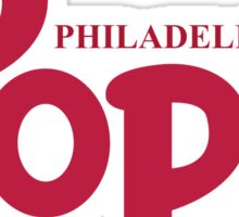 """Pope Phillies Logo Mash Up """"I Was There"""" Sticker"""