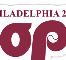 """Pope Retro Phillies Logo Mash Up """"I Was There"""" Sticker"""