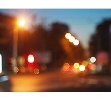Night scene on the road Photographic Print