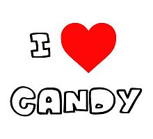 I Heart Candy Photographic Print