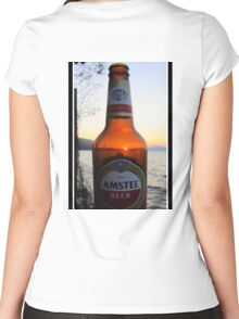 Sunset in a bottle ...... Women's Fitted Scoop T-Shirt