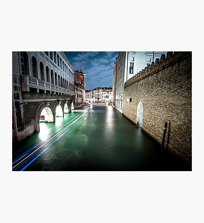 Venice by Night Photographic Print