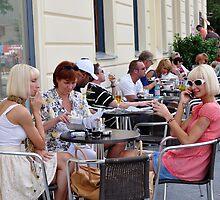 Beer At The Einstein Caffee, Berlin by James J. Ravenel, III