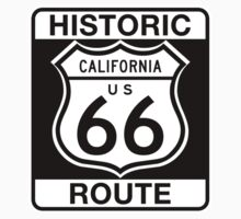 Historic Route 66, California One Piece - Short Sleeve