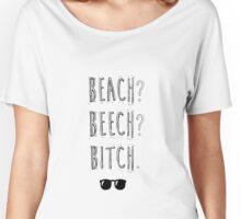 """BTS Bangtan Taehyung Jimin  """"Beach? Beech? B*tch."""" Milky Design Women's Relaxed Fit T-Shirt"""