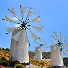 Windmills in Greece.  by FER737NG