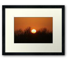 Chocolate Sunset #1 Framed Print