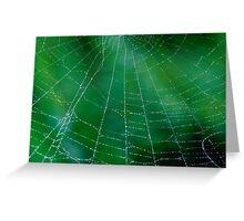Matrix On Green Greeting Card