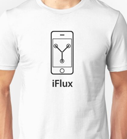 iFlux Black (small image) Unisex T-Shirt