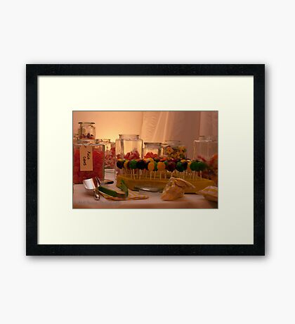 Sweetie Table Framed Print
