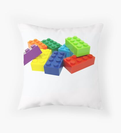 Building blocks. Throw Pillow
