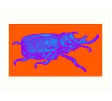 Psychedelic Beetle Art Print