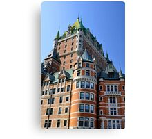 Chateau Frontenac. Canvas Print