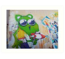 Green mouse tagger Art Print