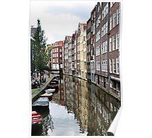 Amsterdam buildings. Poster