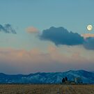 Moonset Over The Foothills by nikongreg