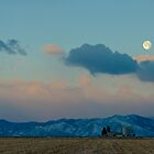 Moonset Over The Foothills by Greg Summers