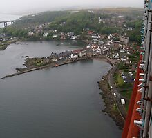 View of North Queensferry from Forth Bridge by weecritter