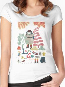 Bear Travel - Let's Go Women's Fitted Scoop T-Shirt