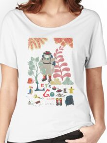 Bear Travel - Let's Go Women's Relaxed Fit T-Shirt