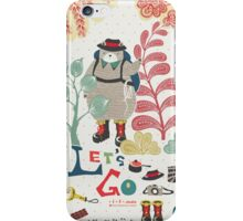 Bear Travel - Let's Go iPhone Case/Skin